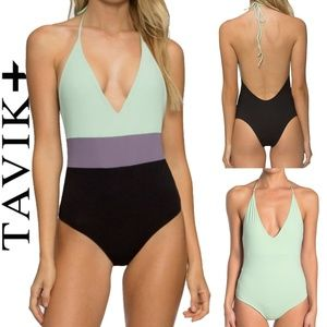 Tavik Colorblock Chase One Piece Swimsuit NEW XS